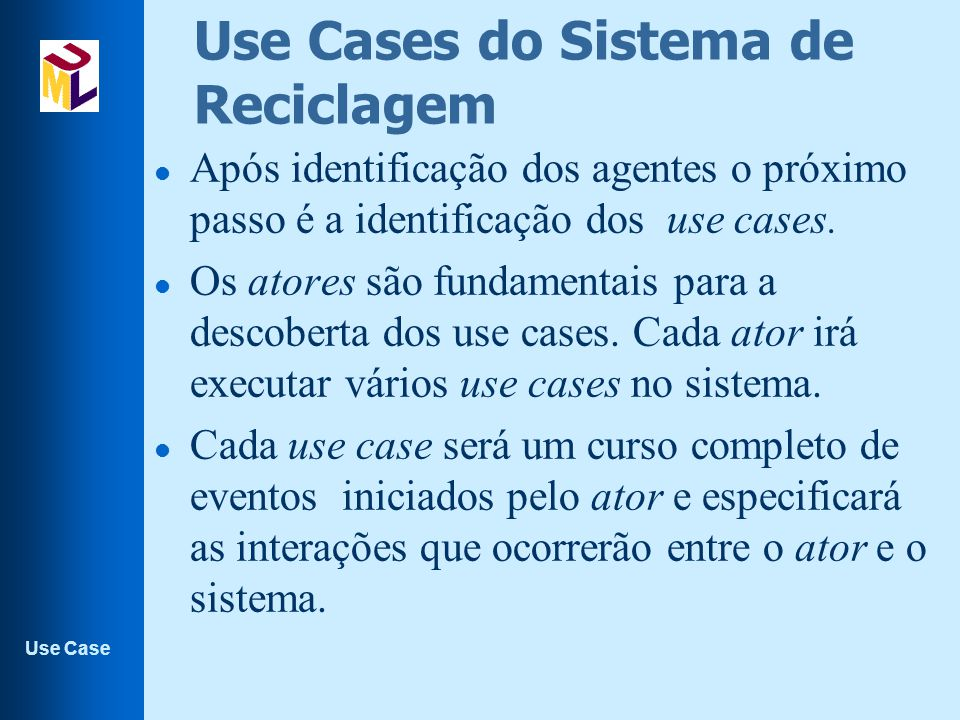 Use Cases do Sistema de Reciclagem