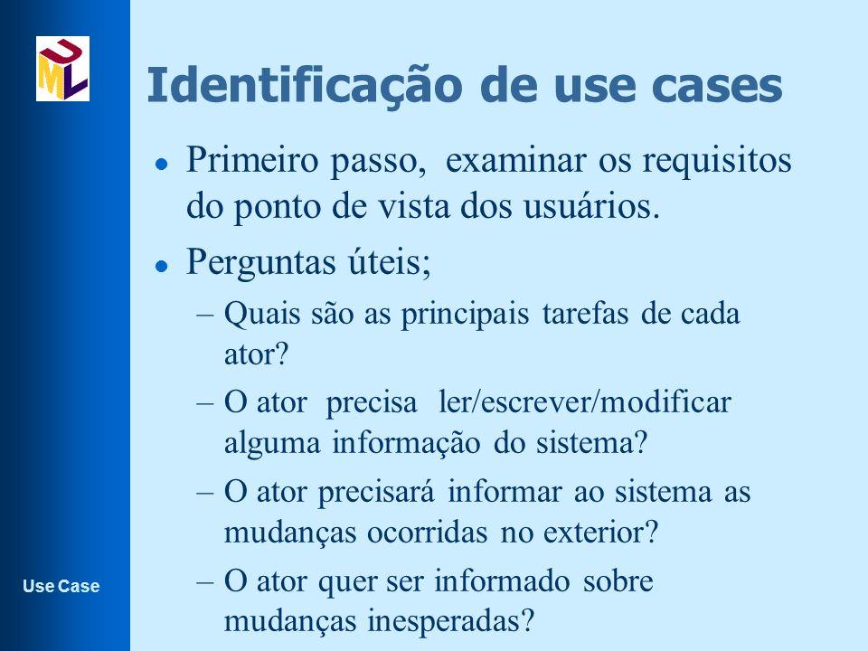 Identificação de use cases
