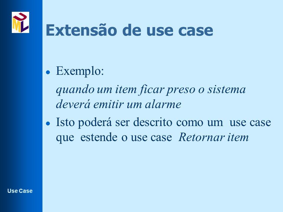 Extensão de use case Exemplo: