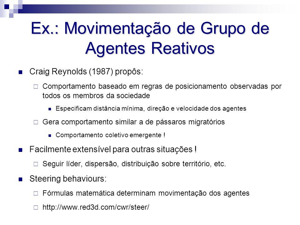 Ex.: Movimentação de Grupo de Agentes Reativos