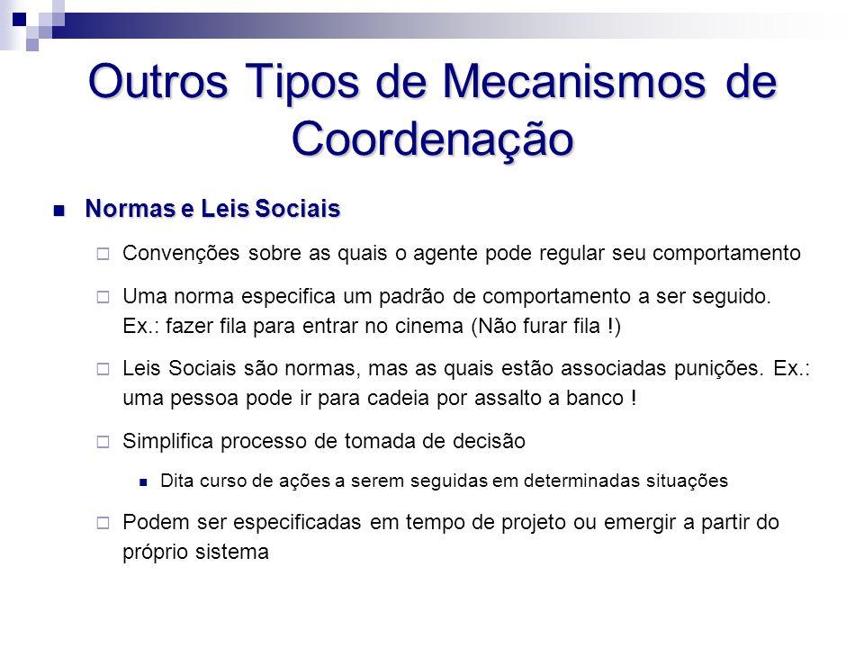 Outros Tipos de Mecanismos de Coordenação