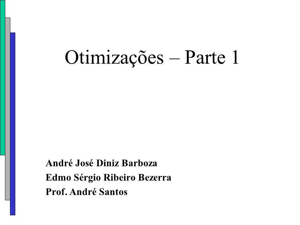 Otimizações – Parte 1 André José Diniz Barboza