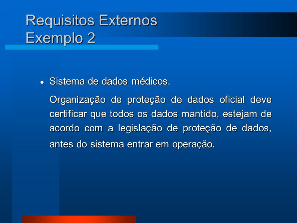 Requisitos Externos Exemplo 2