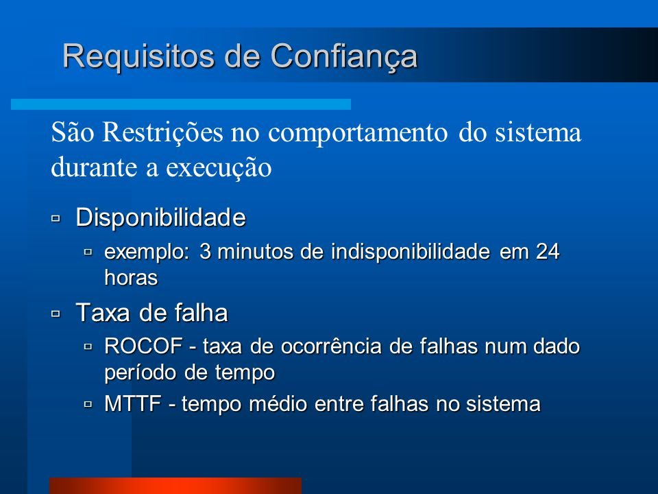 Requisitos de Confiança
