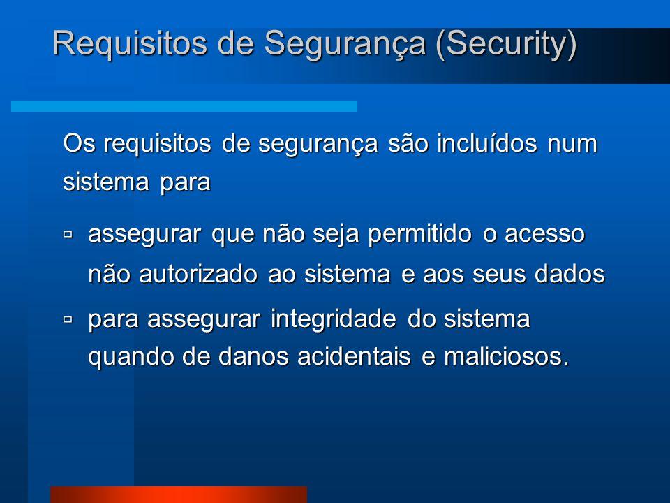 Requisitos de Segurança (Security)