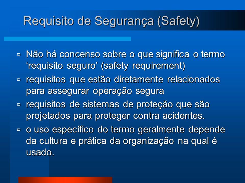 Requisito de Segurança (Safety)