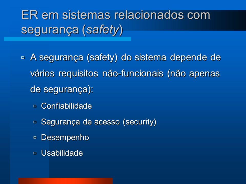 ER em sistemas relacionados com segurança (safety)