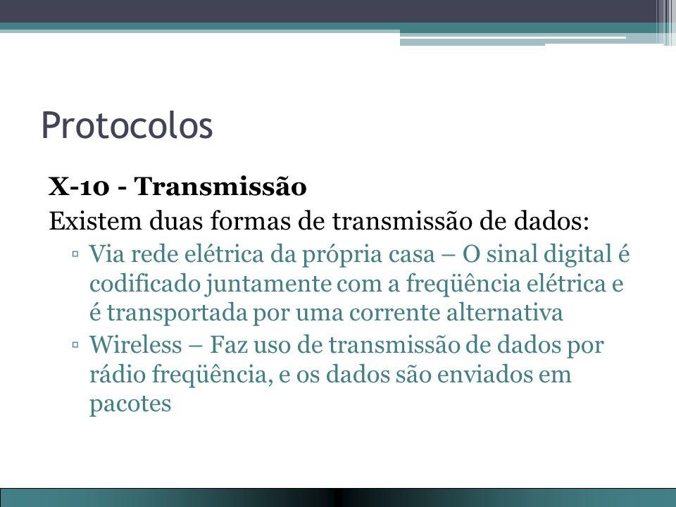 Protocolos X-10 - Transmissão