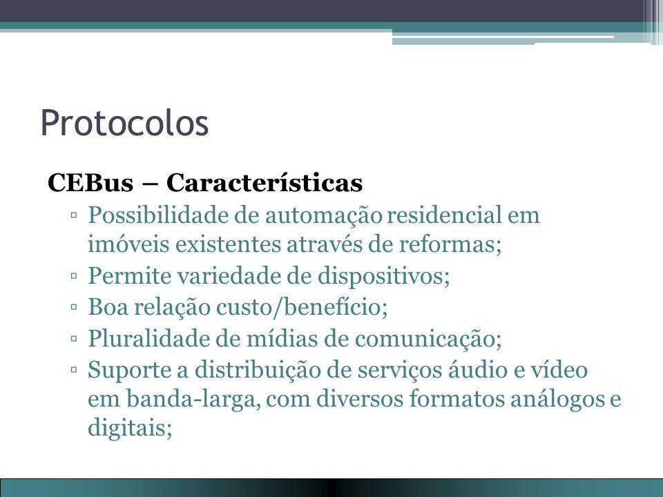 Protocolos CEBus – Características