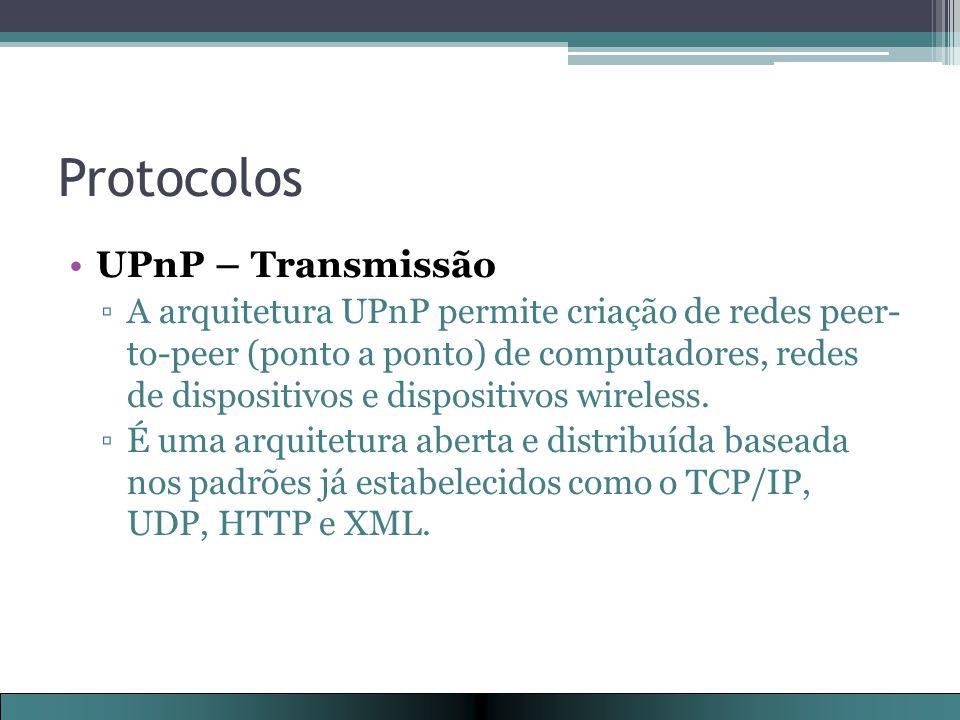 Protocolos UPnP – Transmissão
