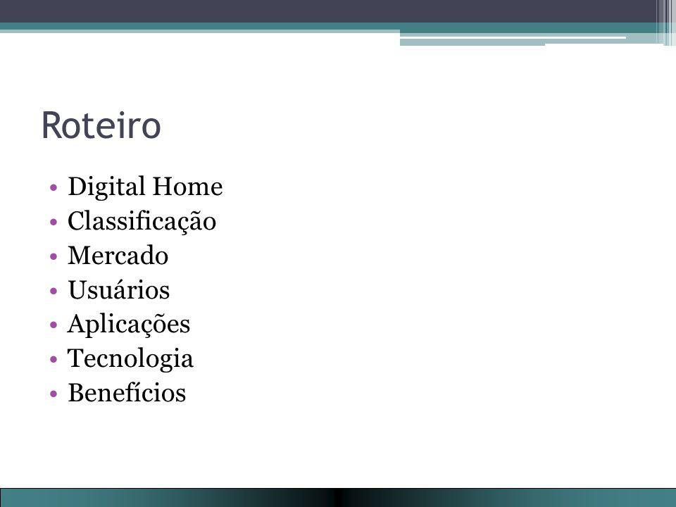 Roteiro Digital Home Classificação Mercado Usuários Aplicações