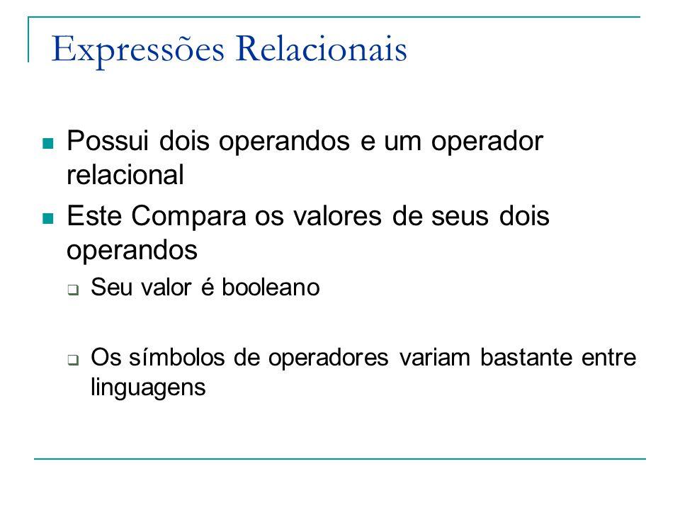 Expressões Relacionais