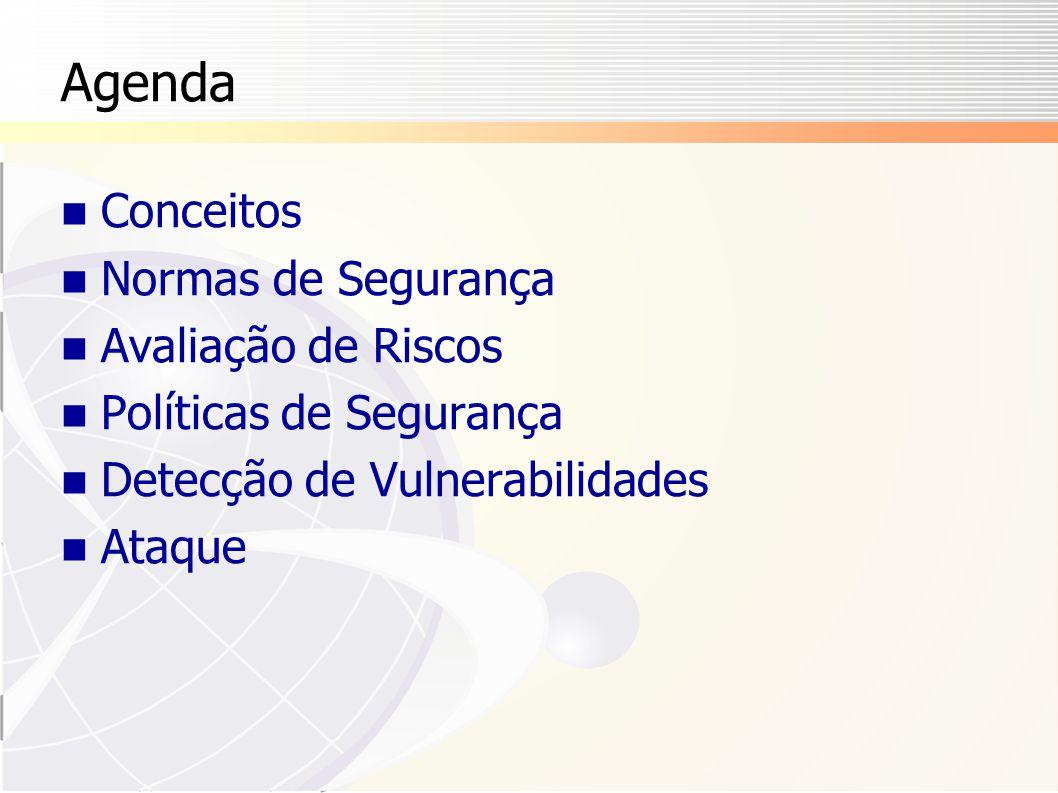 Agenda Conceitos Normas de Segurança Avaliação de Riscos