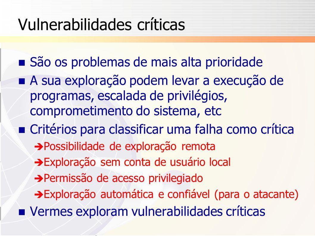 Vulnerabilidades críticas