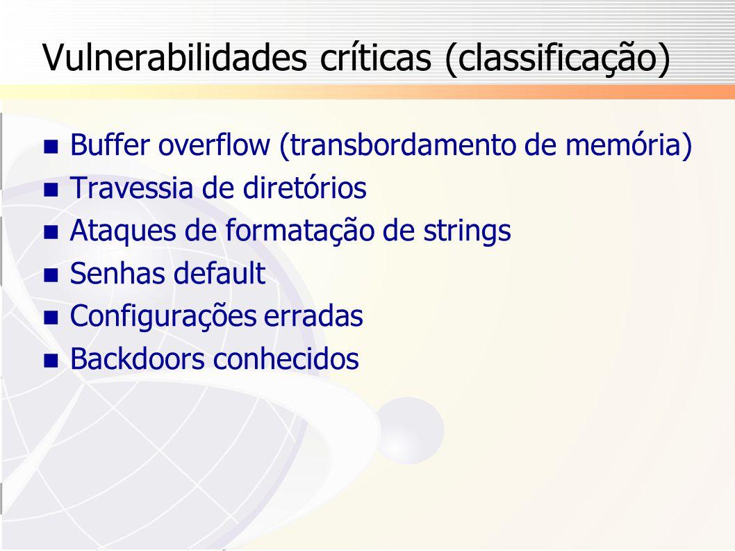 Vulnerabilidades críticas (classificação)