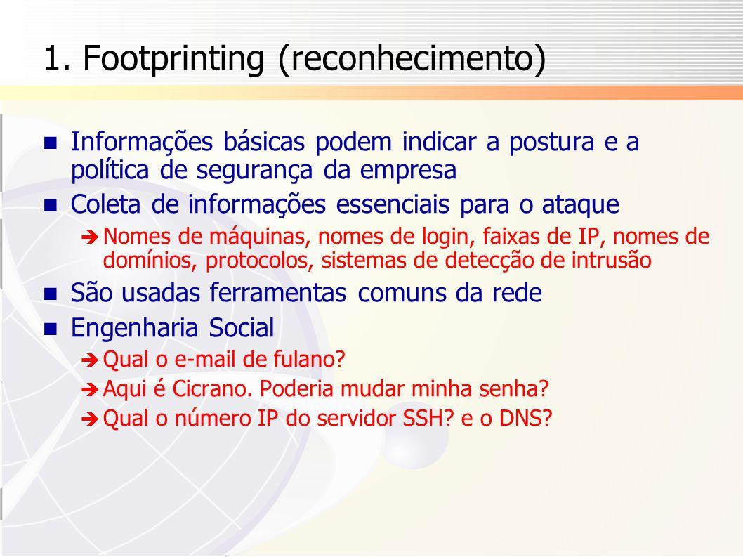 1. Footprinting (reconhecimento)