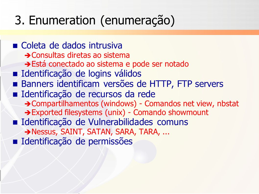 3. Enumeration (enumeração)