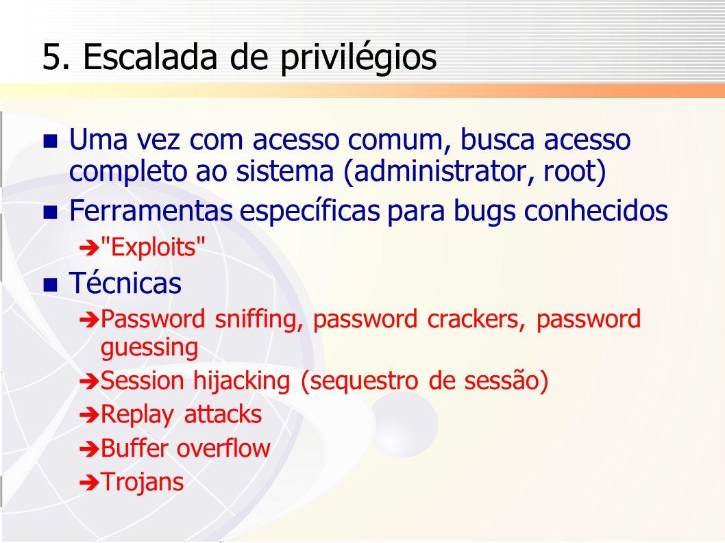 5. Escalada de privilégios