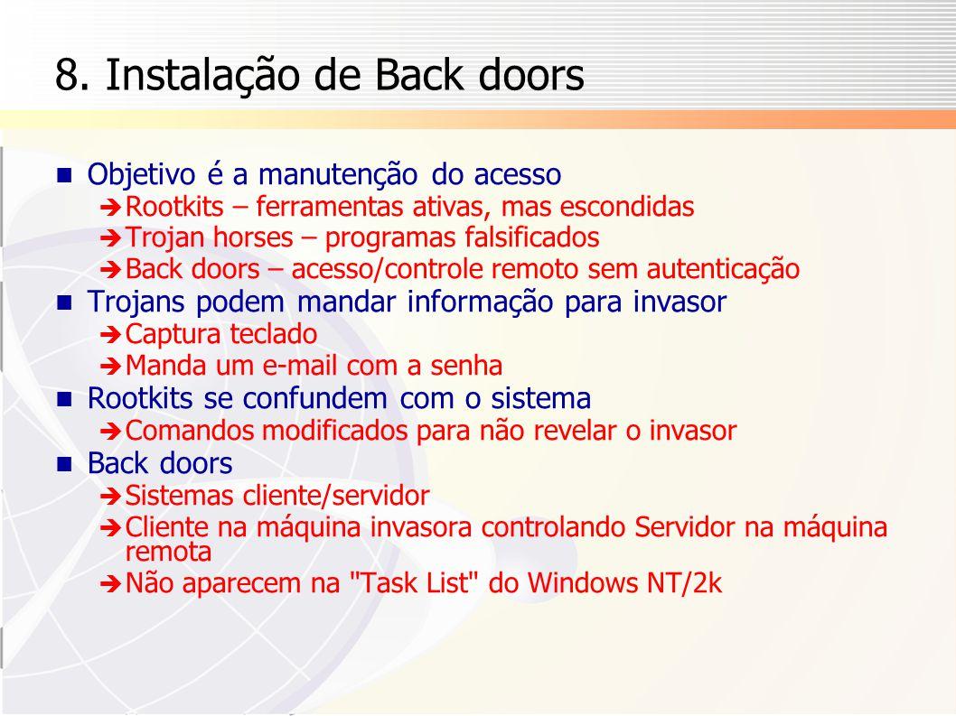 8. Instalação de Back doors
