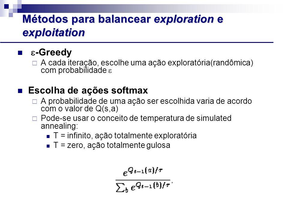 Métodos para balancear exploration e exploitation
