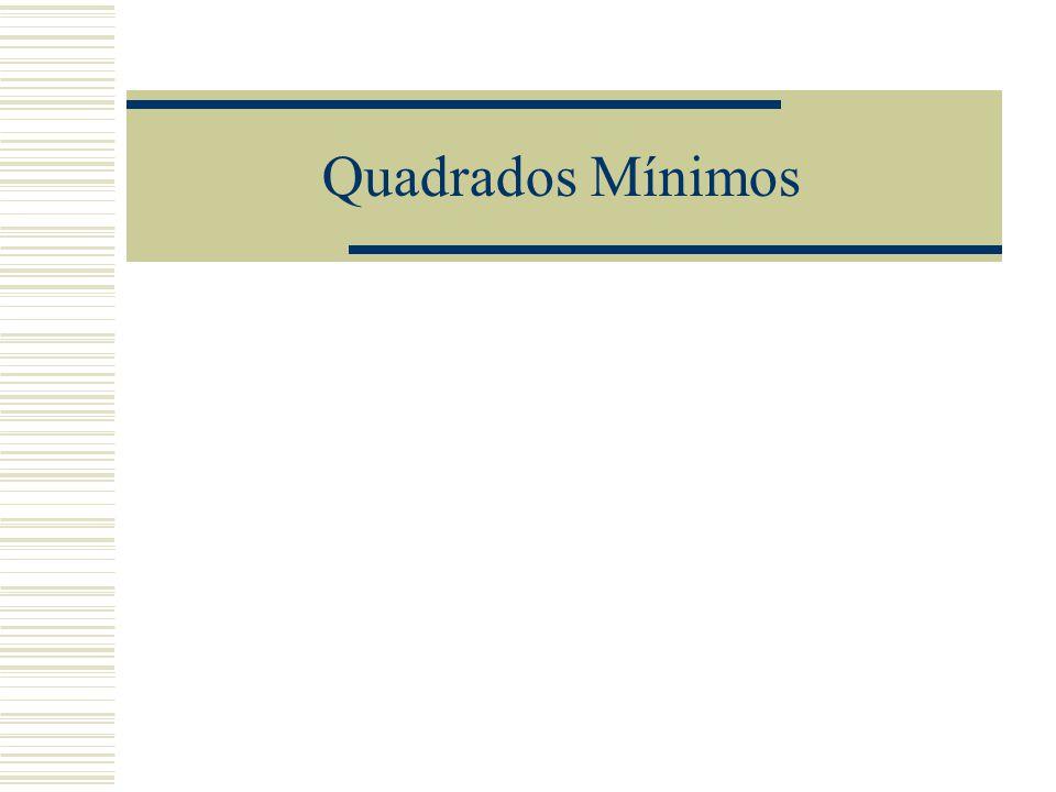 Quadrados Mínimos
