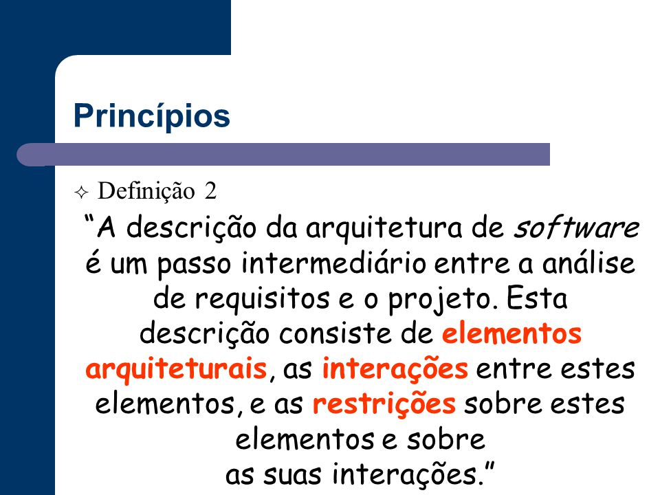 Princípios Definição 2.