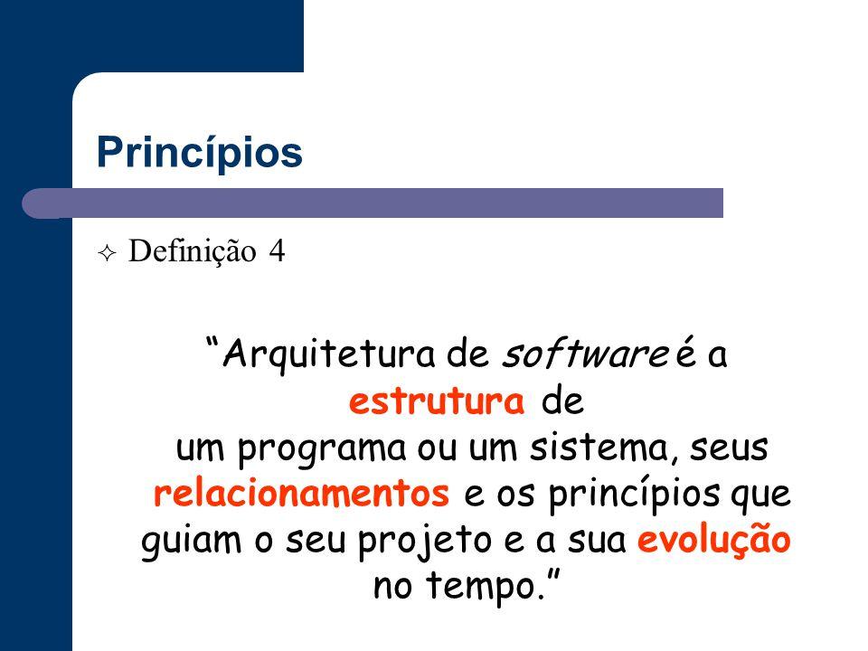 Princípios Arquitetura de software é a estrutura de