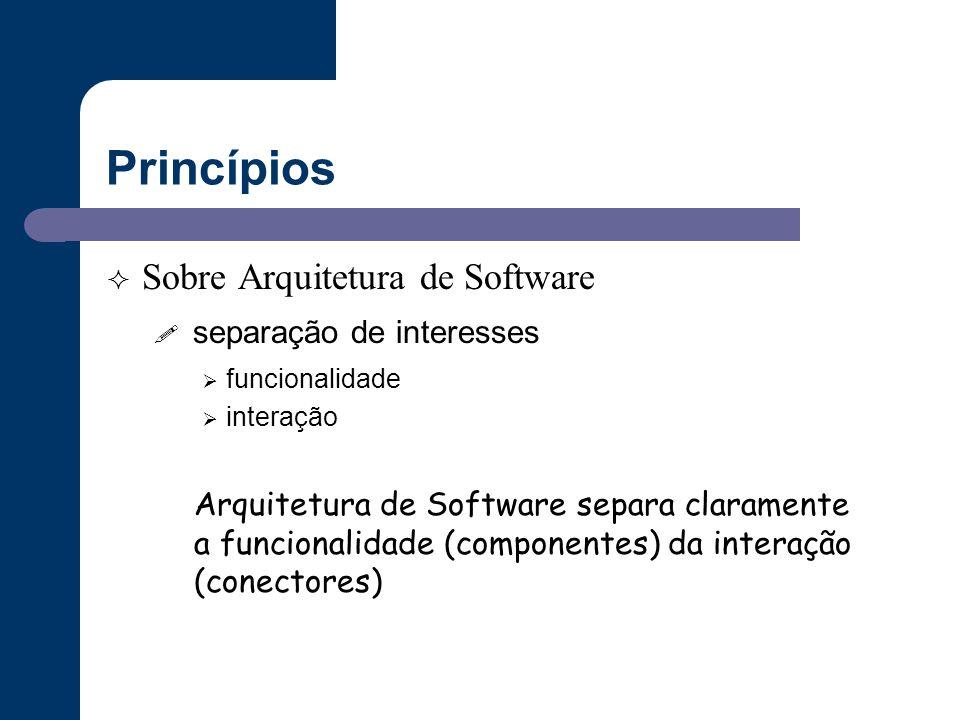 Princípios Sobre Arquitetura de Software separação de interesses