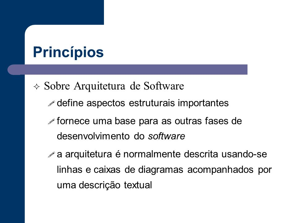 Princípios Sobre Arquitetura de Software