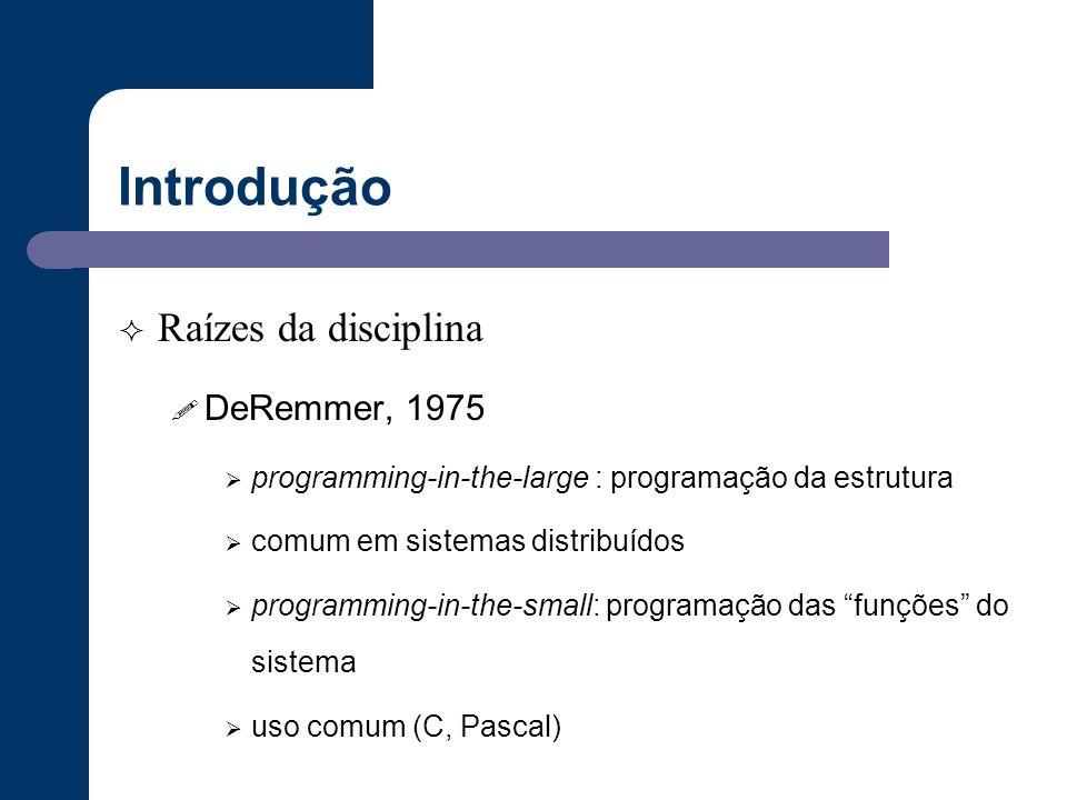 Introdução Raízes da disciplina DeRemmer, 1975