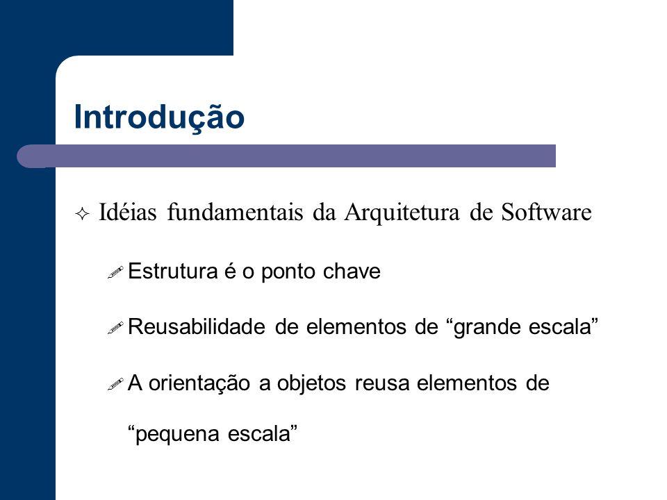 Introdução Idéias fundamentais da Arquitetura de Software