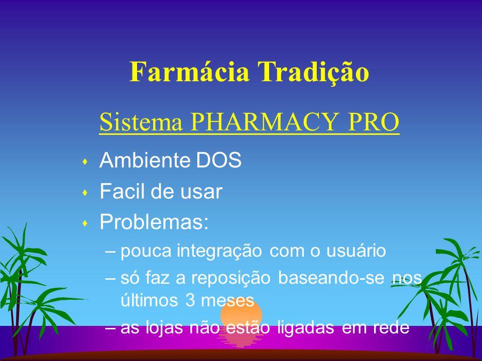Farmácia Tradição Sistema PHARMACY PRO Ambiente DOS Facil de usar