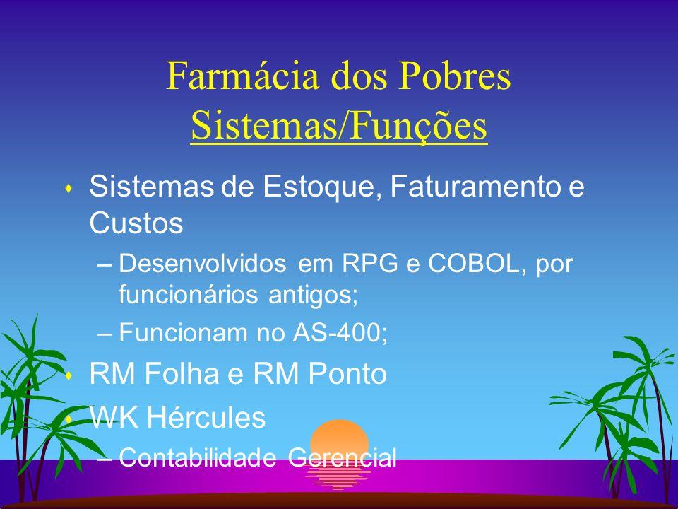 Farmácia dos Pobres Sistemas/Funções
