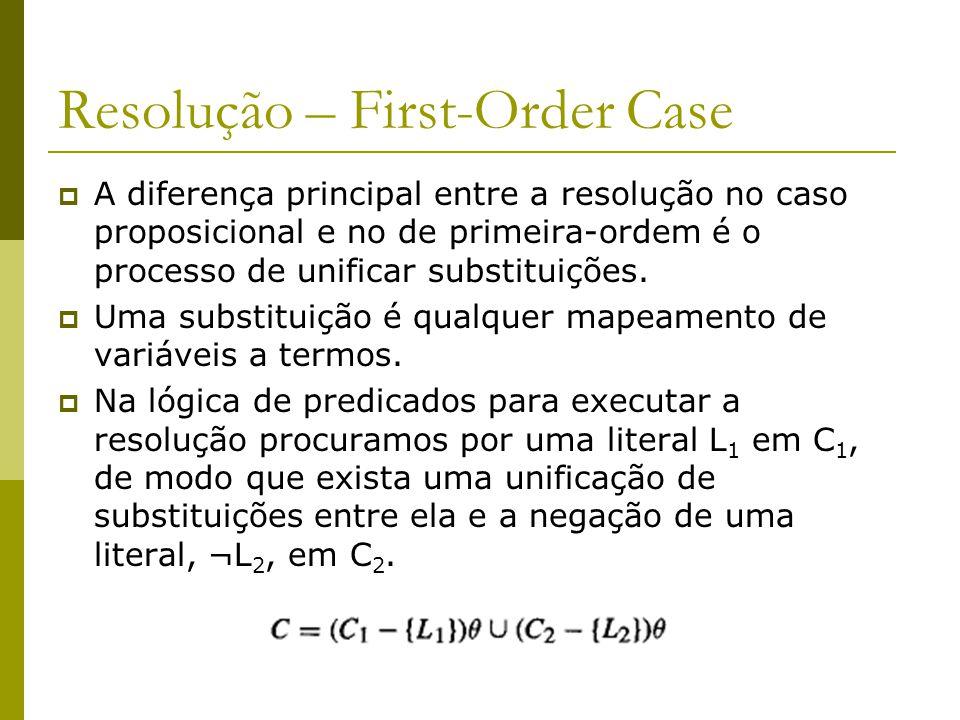 Resolução – First-Order Case