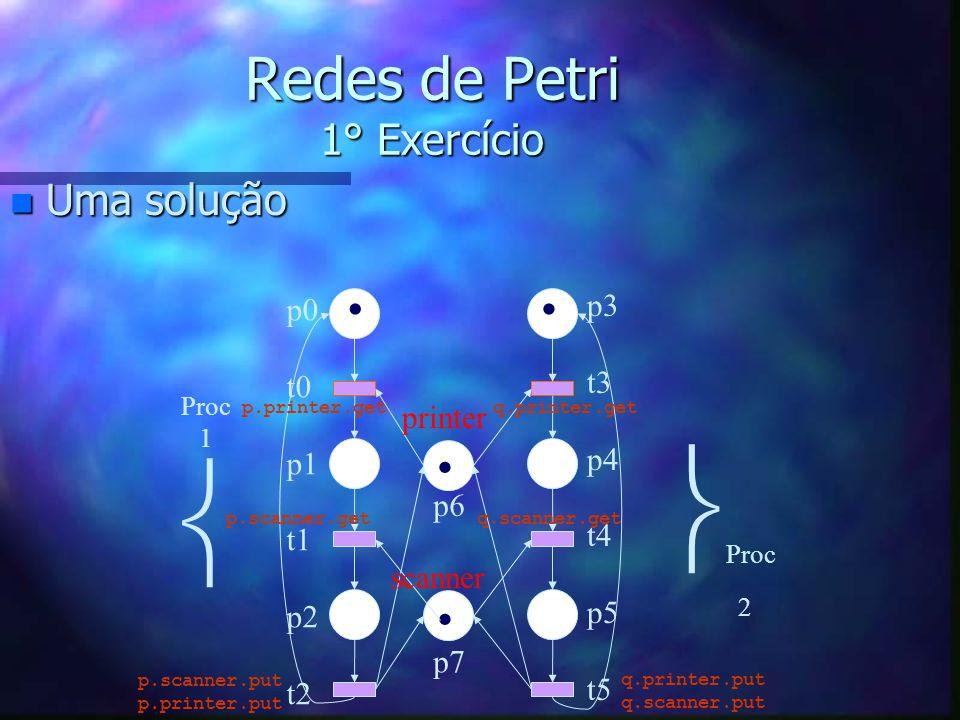 Redes de Petri 1° Exercício