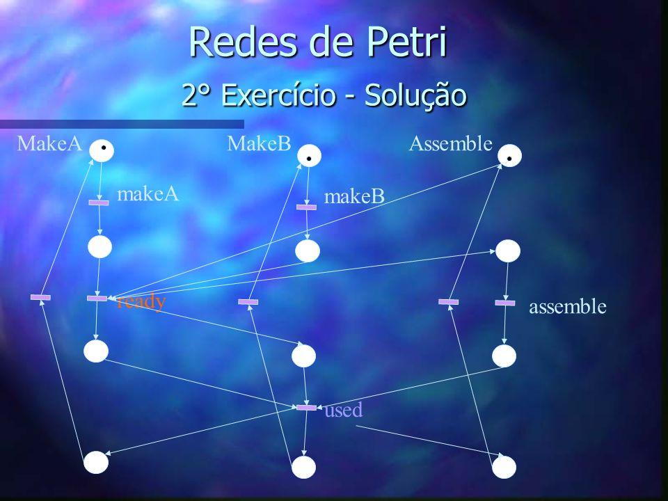 Redes de Petri 2° Exercício - Solução