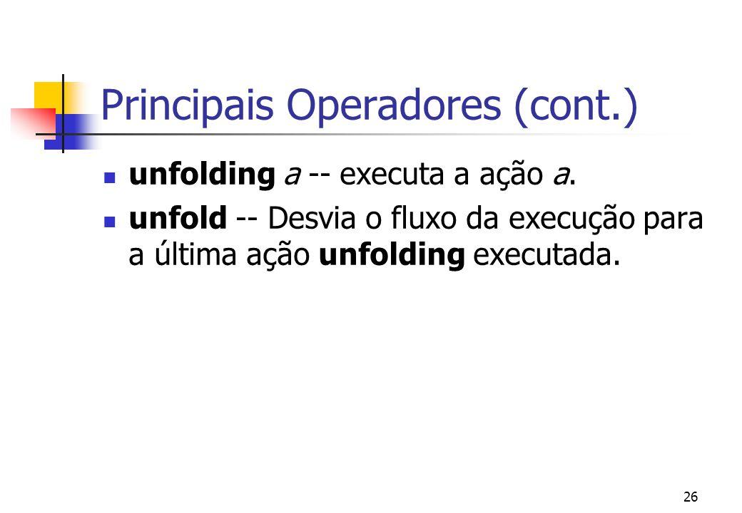 Principais Operadores (cont.)