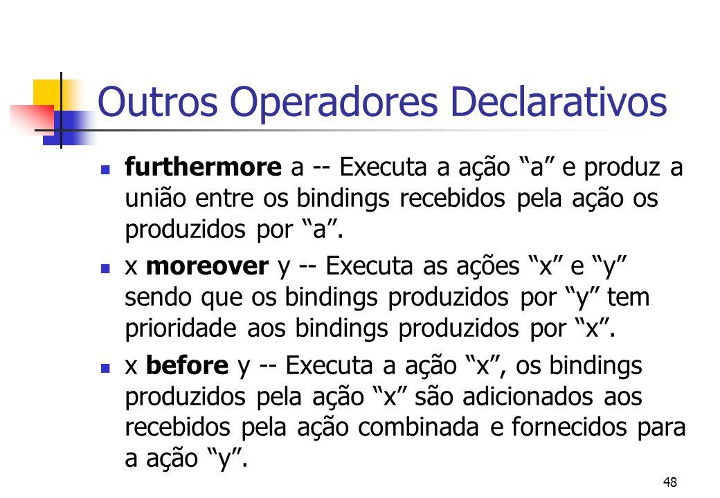 Outros Operadores Declarativos