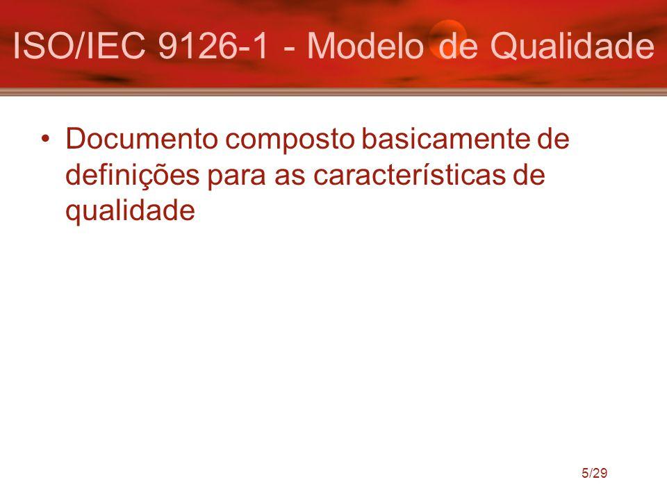 ISO/IEC 9126-1 - Modelo de Qualidade