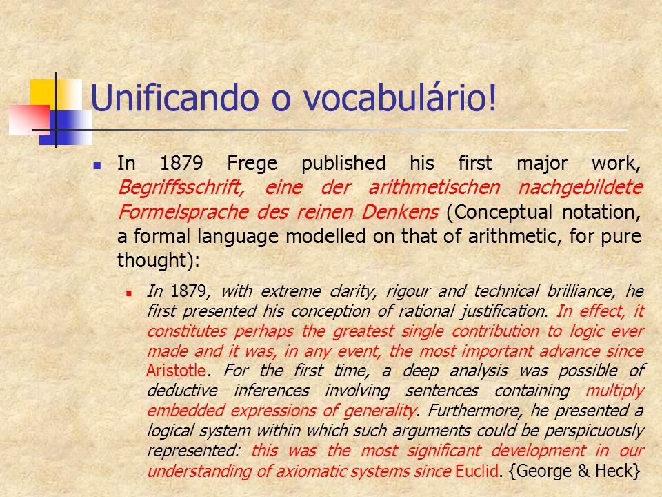 Unificando o vocabulário!