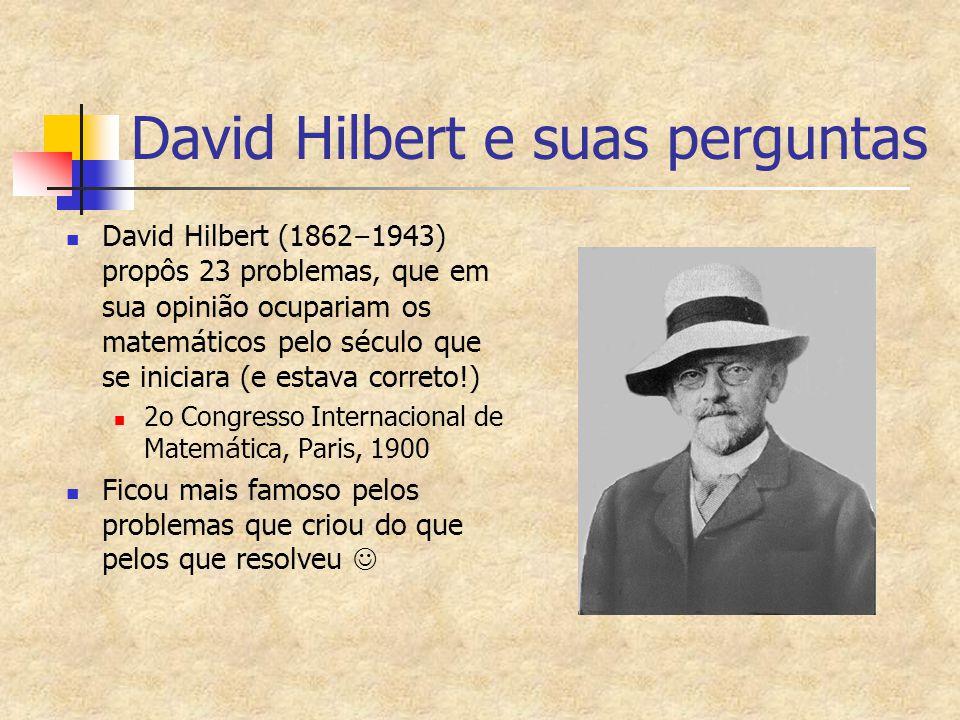 David Hilbert e suas perguntas