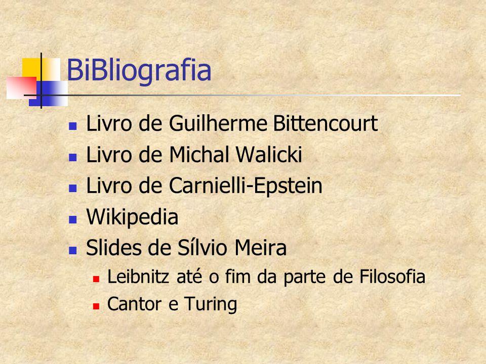 BiBliografia Livro de Guilherme Bittencourt Livro de Michal Walicki