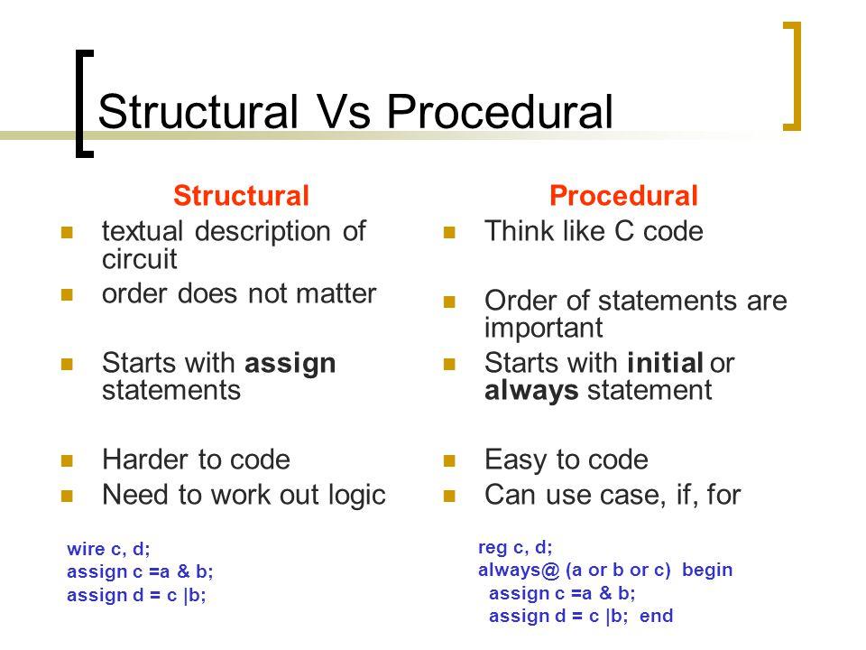 Structural Vs Procedural