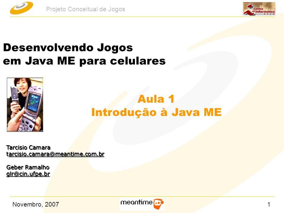 Aula 1 Introdução à Java ME