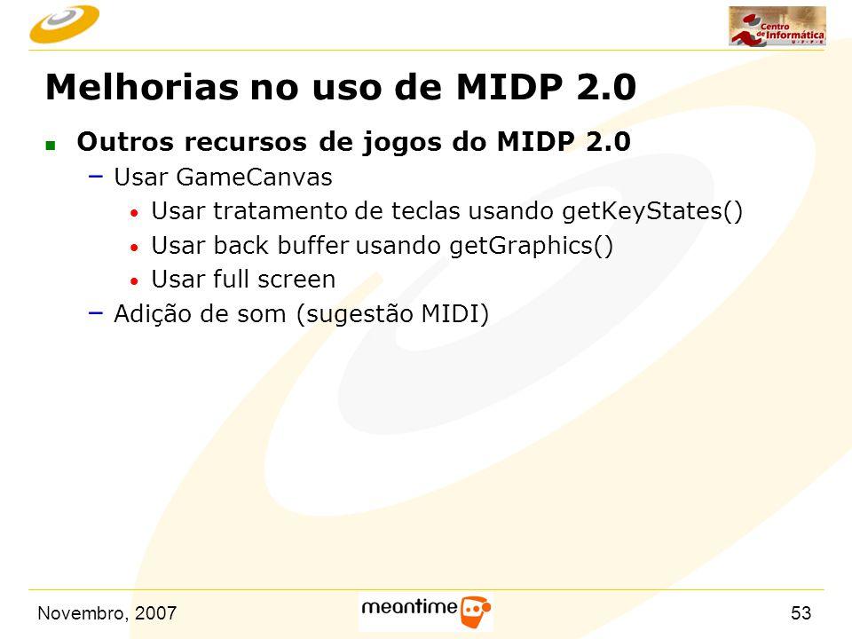 Melhorias no uso de MIDP 2.0