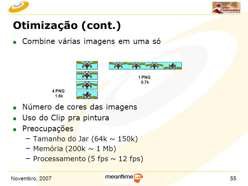 Otimização (cont.) Combine várias imagens em uma só