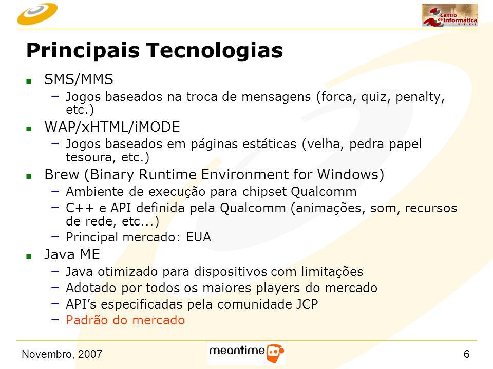 Principais Tecnologias