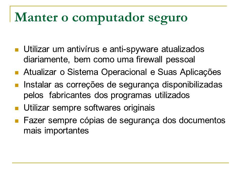 Manter o computador seguro