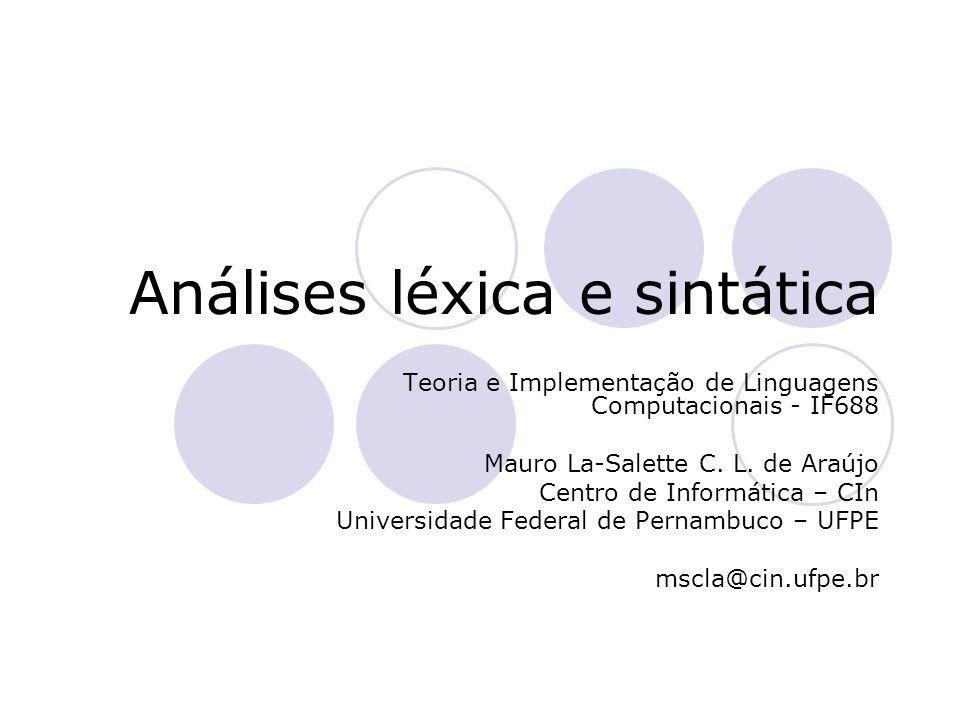 Análises léxica e sintática