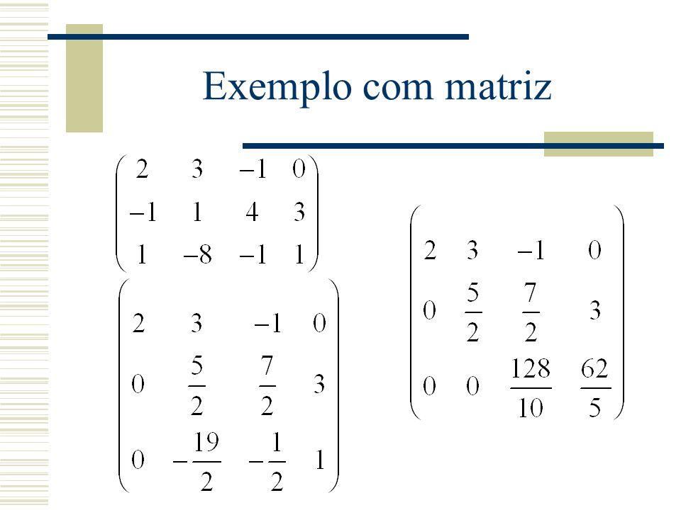 Exemplo com matriz